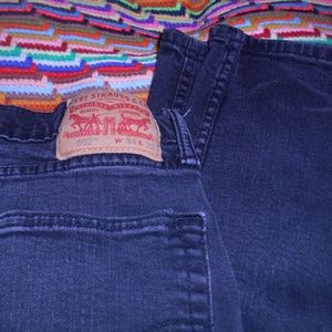 Levi's 502 Taper Fit Men's Jeans sz. 34x32 ~ Black
